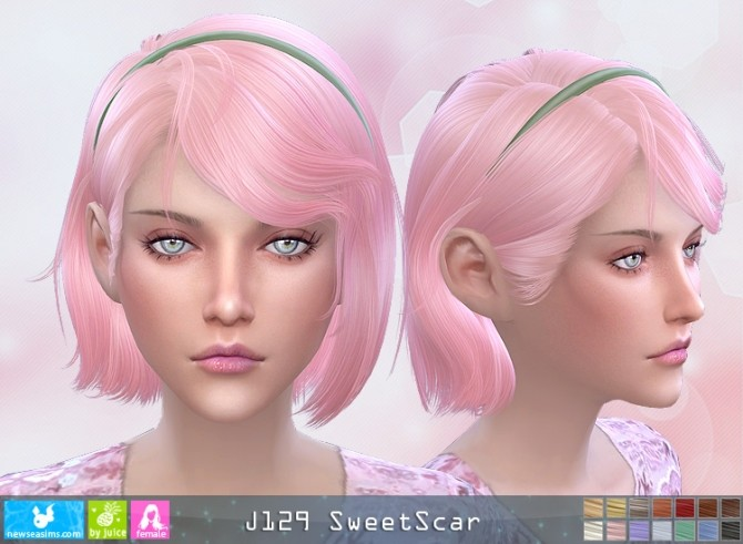J129 SweetScar hair (Pay) at Newsea Sims 4 image 2792 670x491 Sims 4 Updates