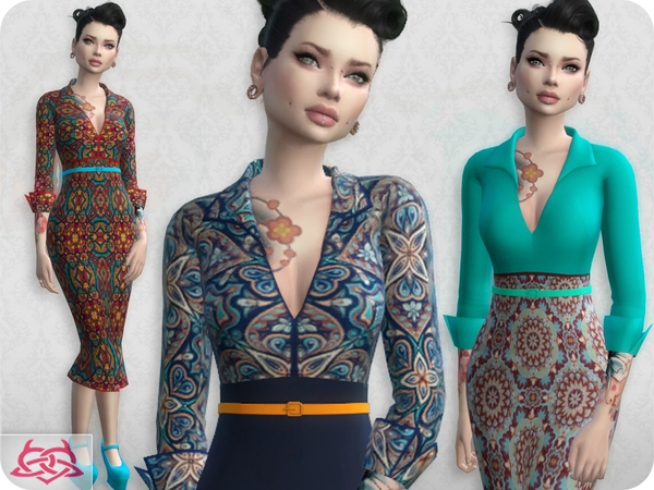Set Blouse / Skirt RECOLOR 3 by Colores Urbanos at TSR image 28 Sims 4 Updates