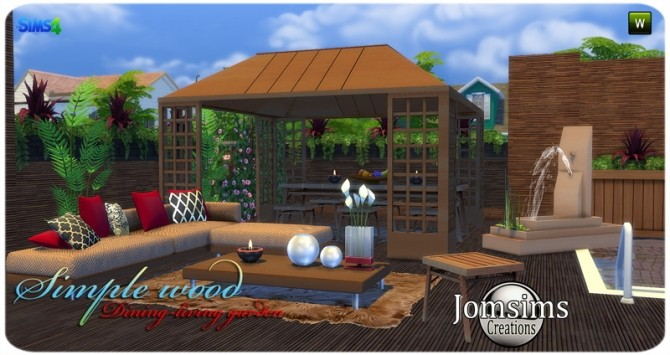 Simple wood dining living garden at Jomsims Creations image 2841 670x355 Sims 4 Updates
