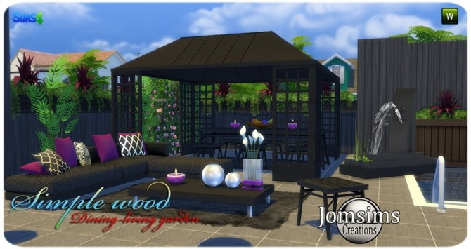Simple wood dining living garden at Jomsims Creations image 2851 670x355 Sims 4 Updates