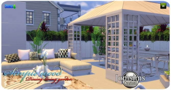 Simple wood dining living garden at Jomsims Creations image 2861 670x355 Sims 4 Updates