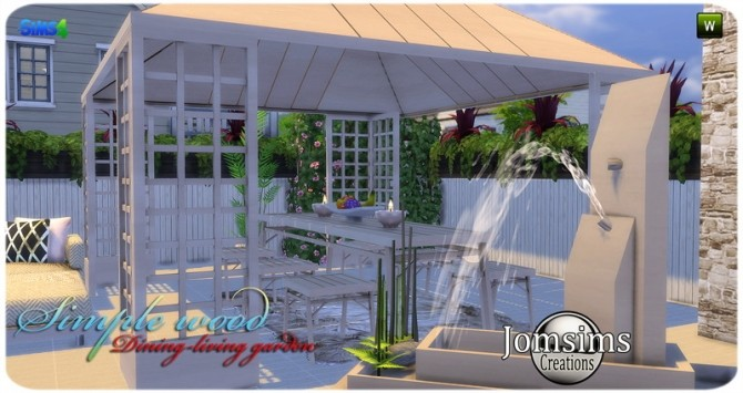 Simple wood dining living garden at Jomsims Creations image 2881 670x355 Sims 4 Updates