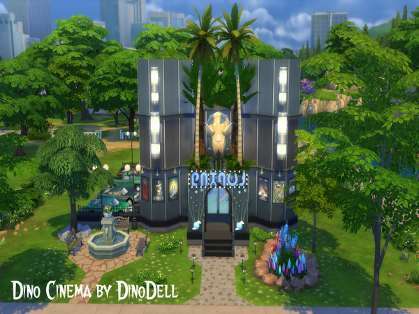 Cinema by DinoDell at TSR image 2913 Sims 4 Updates
