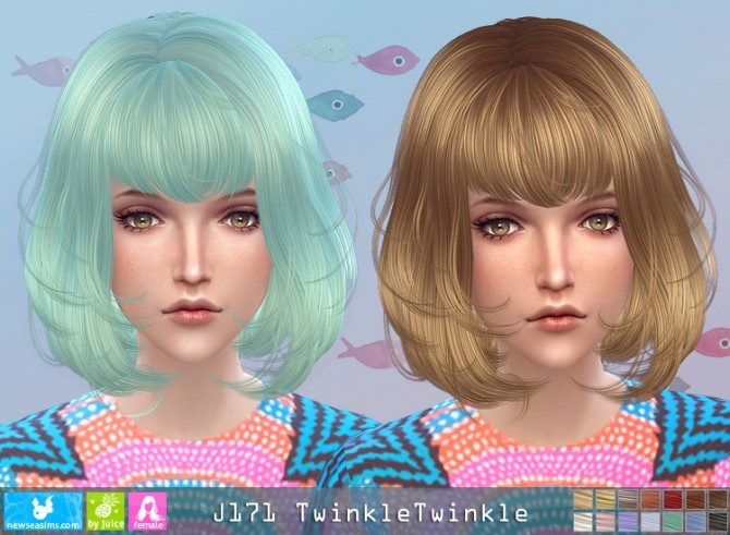 J171 TwinkleTwinkle hair (pay) at Newsea Sims 4 image 2931 670x491 Sims 4 Updates