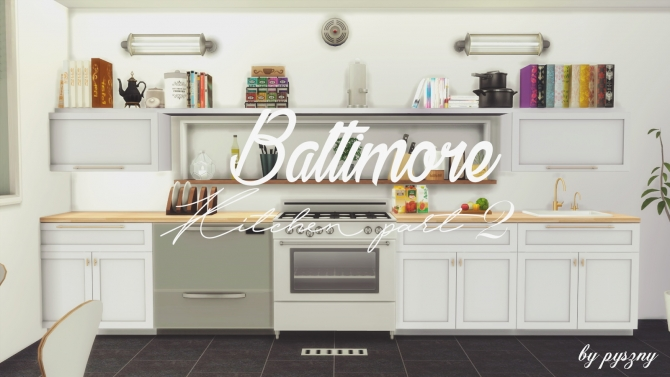 Baltimore kitchen part 2 at pyszny design sims 4 updates for Sims 2 kitchen ideas