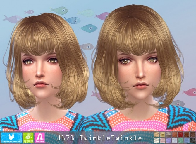 J171 TwinkleTwinkle hair (pay) at Newsea Sims 4 image 2951 670x491 Sims 4 Updates