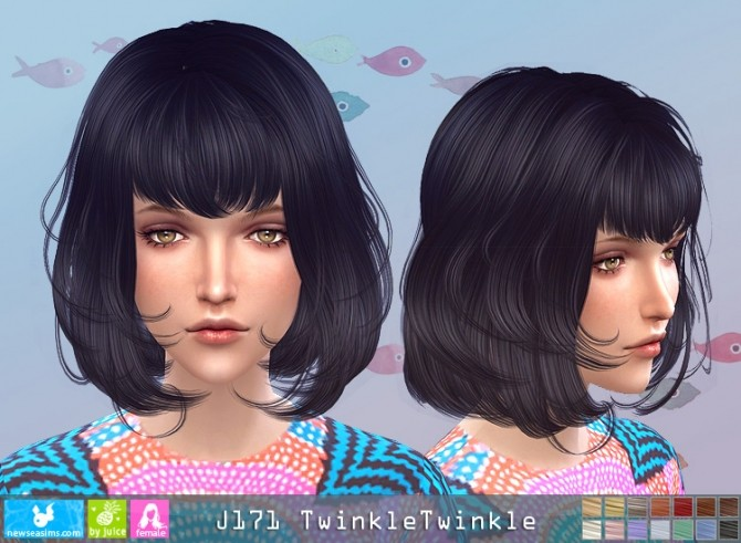 J171 TwinkleTwinkle hair (pay) at Newsea Sims 4 image 2961 670x491 Sims 4 Updates