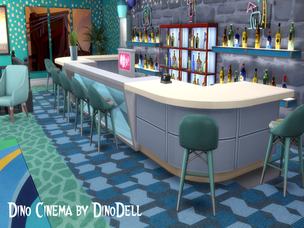 Cinema by DinoDell at TSR image 3012 Sims 4 Updates