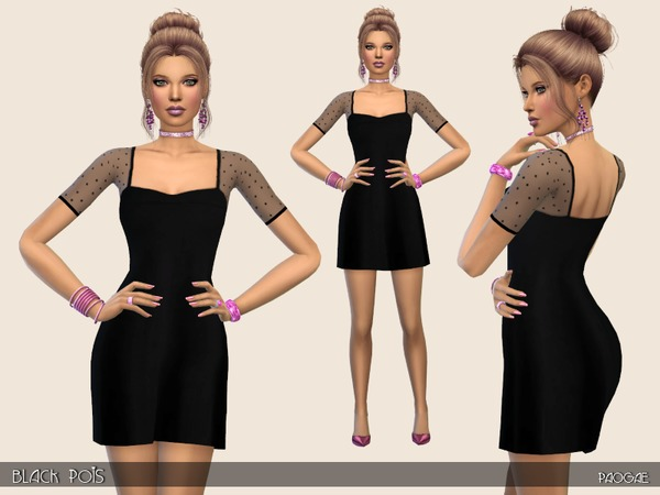 BlackPois dress by Paogae at TSR image 3014 Sims 4 Updates