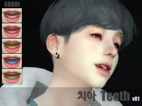 Teeth v01 by SooBi at TSR image 3018 Sims 4 Updates