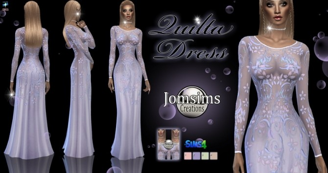 Sims 4 Quilta dress at Jomsims Creations