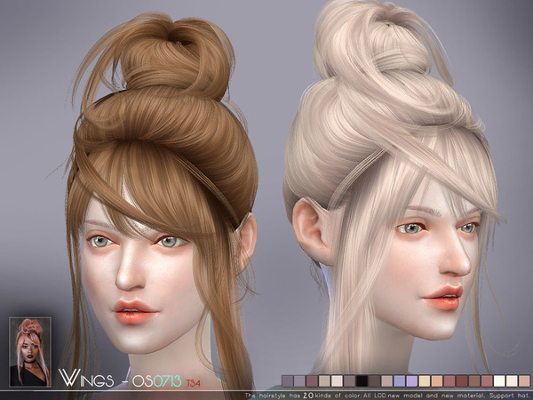 Hair OS0713 by wingssims at TSR image 3101 Sims 4 Updates