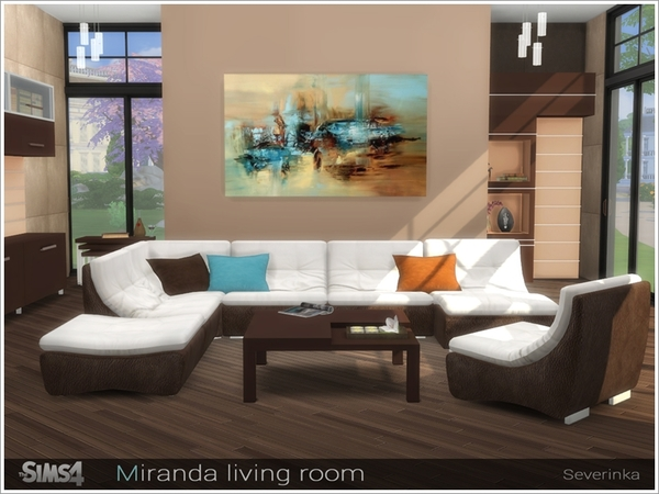Miranda living room by severinka at tsr sims 4 updates for 3 star living room chair sims