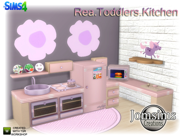 Rea Toddlers Kitchen by jomsims at TSR image 3108 Sims 4 Updates
