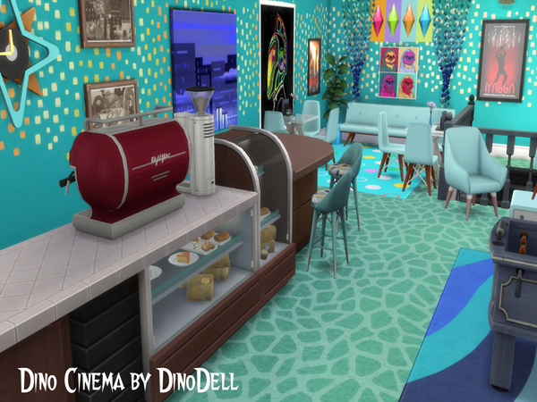 Cinema by DinoDell at TSR image 3112 Sims 4 Updates