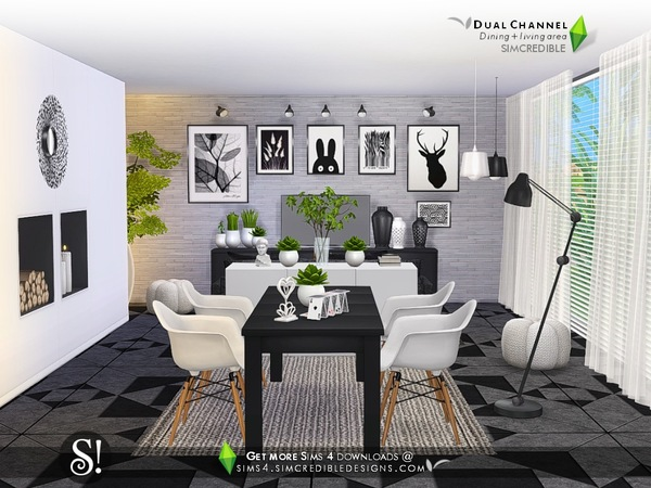 Dual Channel diningroom by SIMcredible at TSR image 3125 Sims 4 Updates