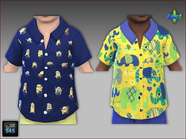 Sims 4 6 shorts and 6 shirts for little boys at Arte Della Vita