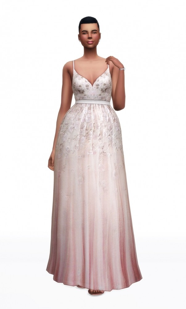 Soft pink embellished tulle gown at Rusty Nail image 3191 603x1000 Sims 4 Updates
