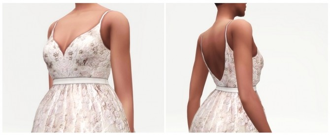 Soft pink embellished tulle gown at Rusty Nail image 3201 670x274 Sims 4 Updates