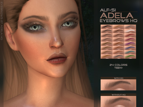 Adela Eyebrows HQ by Alf si at TSR image 3210 Sims 4 Updates