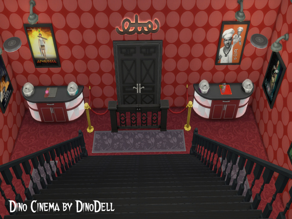 Cinema by DinoDell at TSR image 3212 Sims 4 Updates