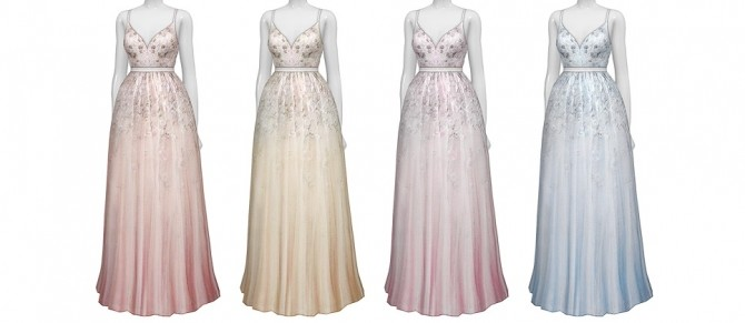 Soft pink embellished tulle gown at Rusty Nail image 3227 670x291 Sims 4 Updates