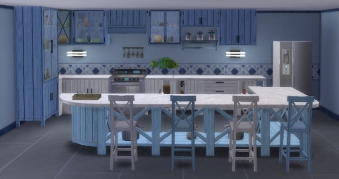 Kitchen Inspiration Navy by Maman Gateau at Sims Artists image 329 670x355 Sims 4 Updates