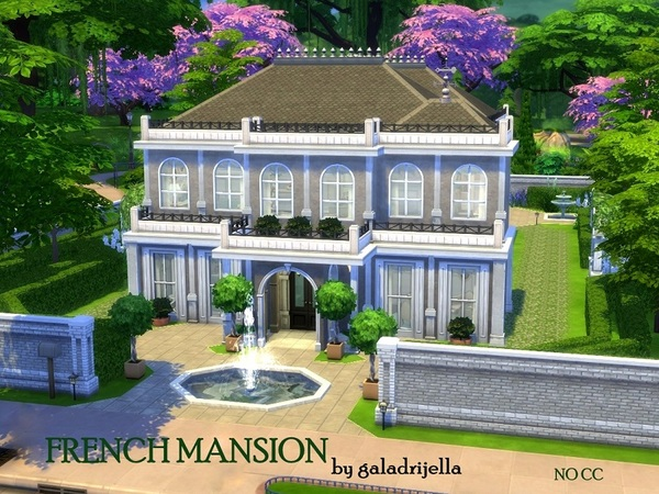 French Mansion by galadrijella at TSR image 3310 Sims 4 Updates