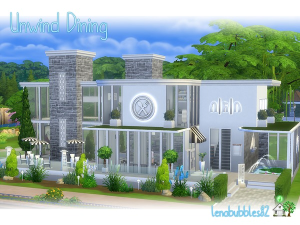 Unwind Dining restaurant by lenabubbles82 at TSR image 3312 Sims 4 Updates