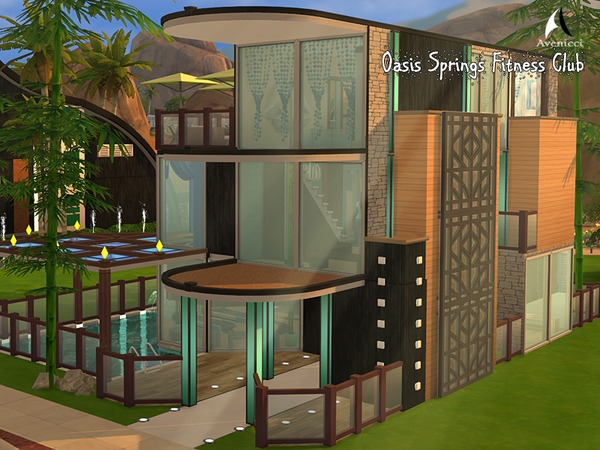 Oasis Springs Fitness Center by AvenicciX at TSR image 3313 Sims 4 Updates