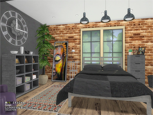 Gunnern Bedroom by ArtVitalex at TSR image 332 Sims 4 Updates