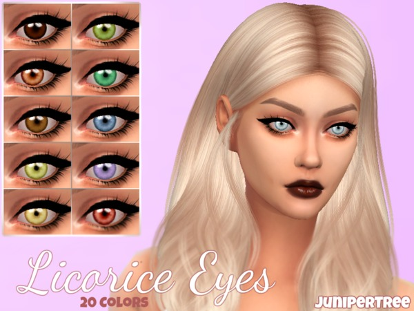 Licorice Eyes by JuniperTree at TSR image 335 Sims 4 Updates
