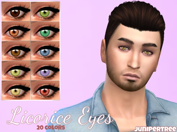 Licorice Eyes by JuniperTree at TSR image 3412 Sims 4 Updates