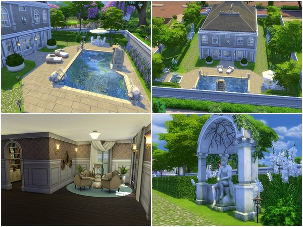 French Mansion by galadrijella at TSR image 3415 Sims 4 Updates