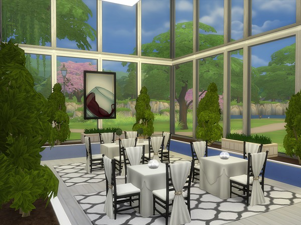 Unwind Dining restaurant by lenabubbles82 at TSR image 3417 Sims 4 Updates