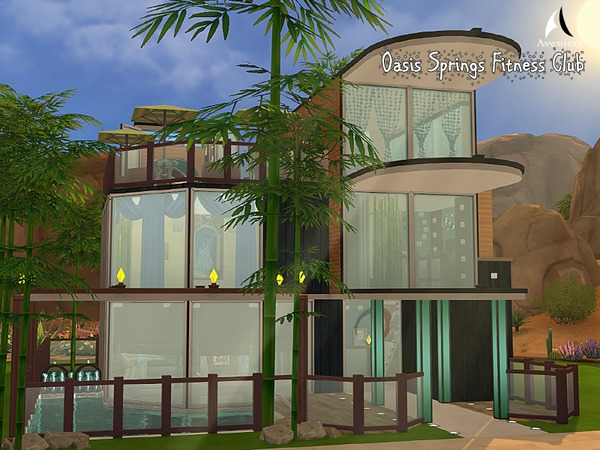 Oasis Springs Fitness Center by AvenicciX at TSR image 3418 Sims 4 Updates