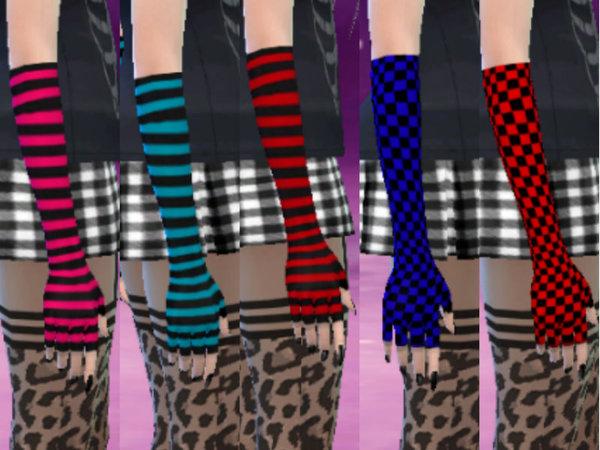 Emo socks and gloves