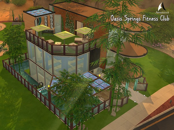 Oasis Springs Fitness Center by AvenicciX at TSR image 3514 Sims 4 Updates
