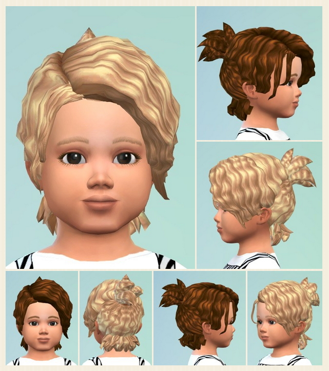 Messie Curl Ponytail Toddler at Birksches Sims Blog image 367 Sims 4 Updates