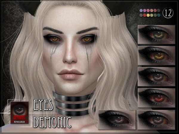 Demonic Eyes by RemusSirion at TSR image 3816 Sims 4 Updates
