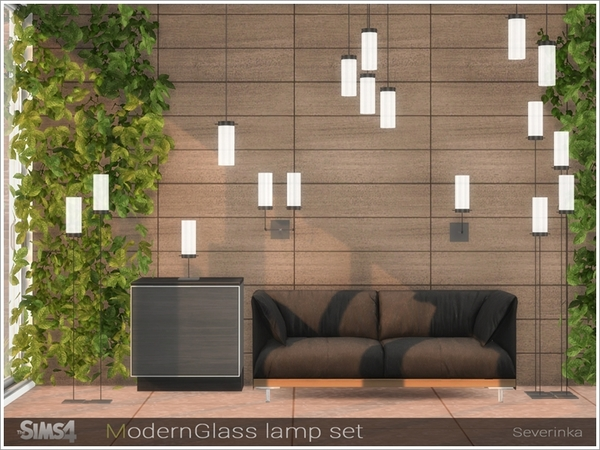Modern Glass lamp set by Severinka at TSR image 3825 Sims 4 Updates