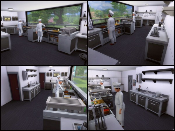 Sims 4 men u Restaurant by sparky at TSR