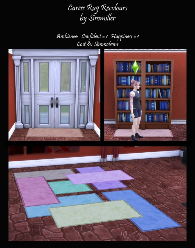 Sims 4 Caress Rug Recolours by Simmiller at Mod The Sims