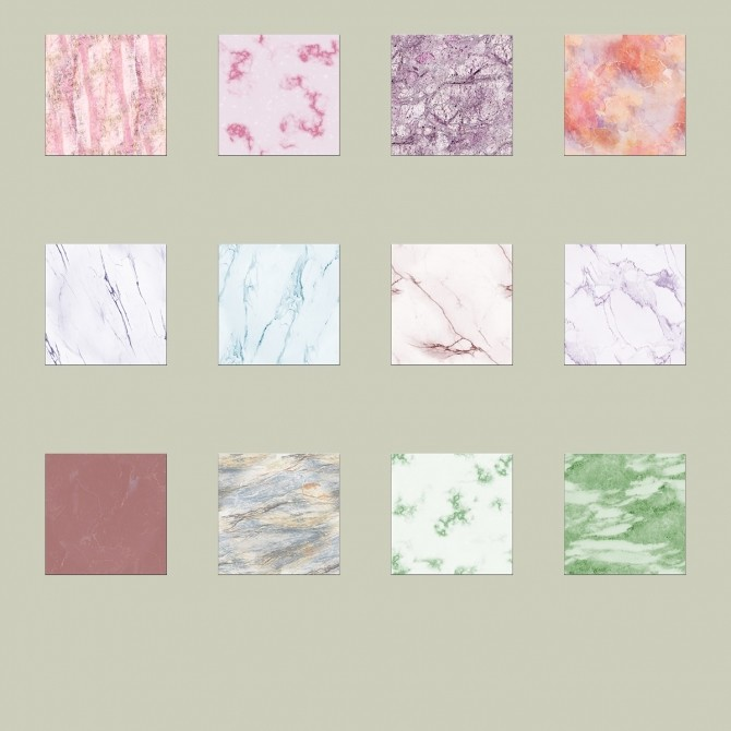 12 Colored Marble Tile Floor Patterns by sistafeed at Mod The Sims image 3923 670x670 Sims 4 Updates
