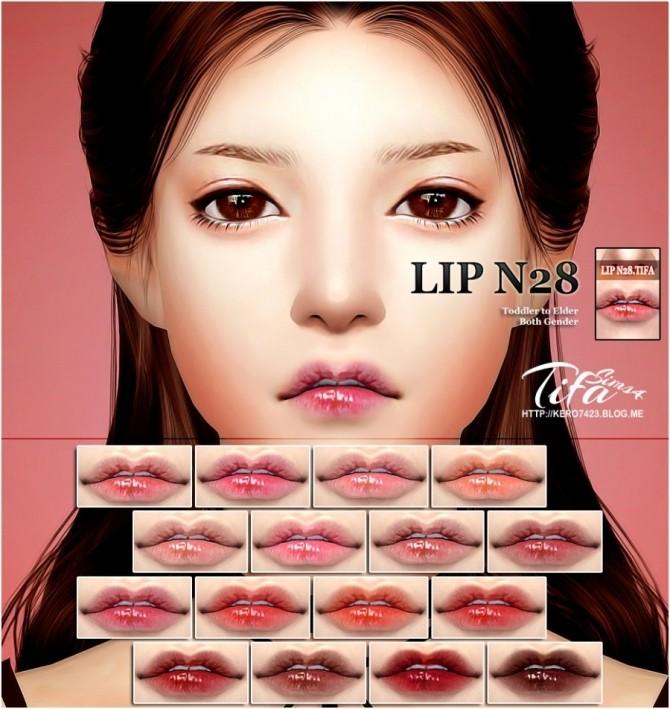 Lips N28 MF at Tifa Sims image  Sims 4 Updates
