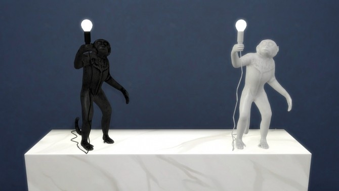 Sims 4 Monkey Standing Table Lamp (Pay) at Meinkatz Creations