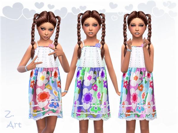 Sims 4 GirlZ 08 summer dress by Zuckerschnute20 at TSR