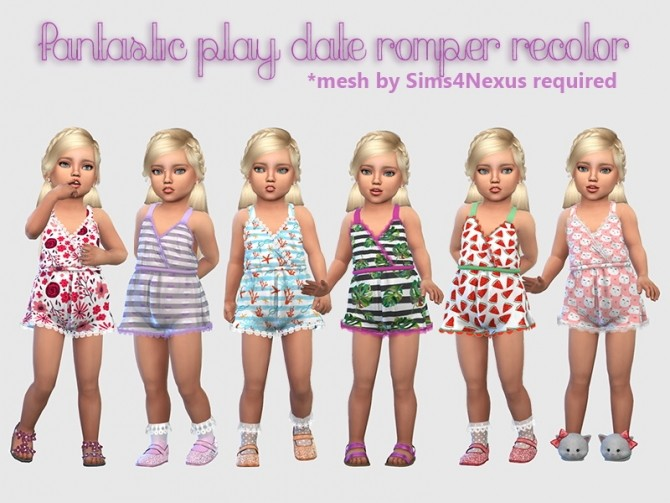 Fantastic Play Date Romper Recolor at Giulietta » Sims 4