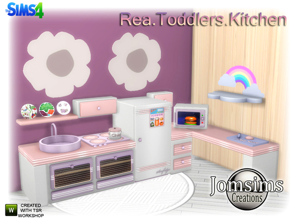 Rea Toddlers Kitchen by jomsims at TSR image 4101 Sims 4 Updates