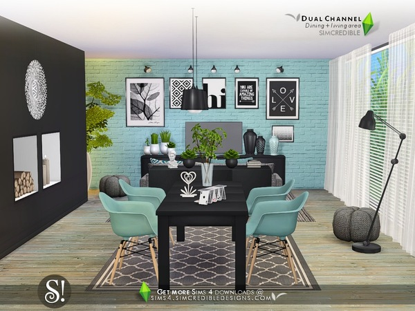 Dual Channel diningroom by SIMcredible at TSR image 4103 Sims 4 Updates